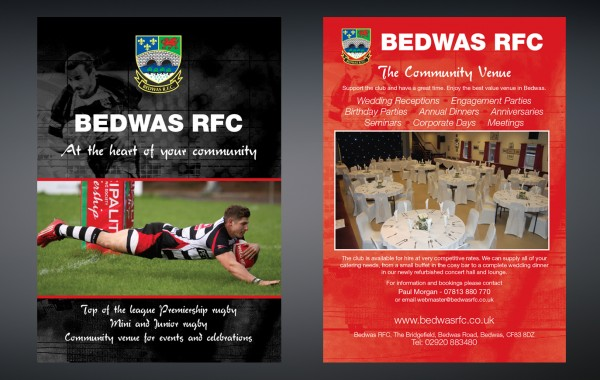 Bedwas RFC Promotional Literature